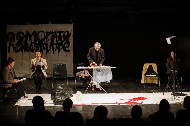 Сцена из эскиза «Четыре дня». Фото — Вадим Боченков.