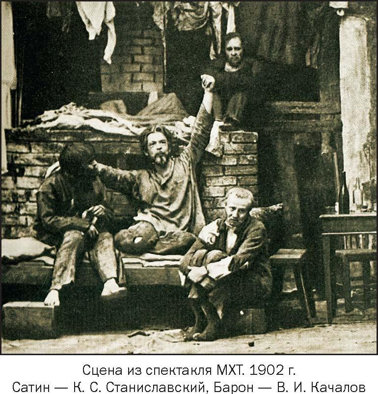 Спектакль На дне, МХТ, 1902, режиссер - Константин Станиславский